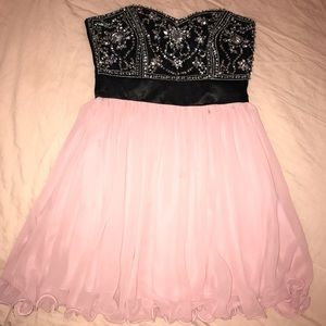 Pink dress with chunky sequins size 3/4
